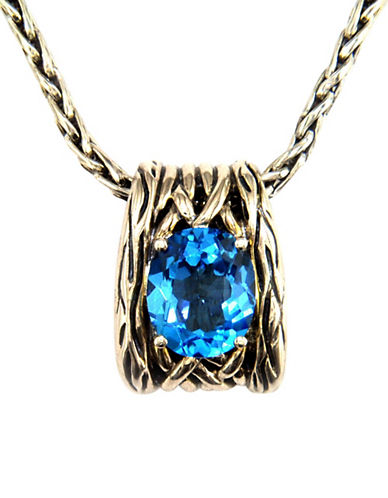 Effy Sterling Silver Blue Topaz Necklace-TOPAZ-One Size
