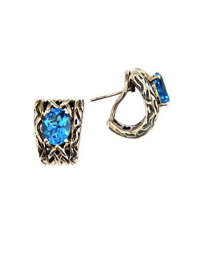 Effy Sterling Silver Blue Topaz Earrings-TOPAZ-One Size