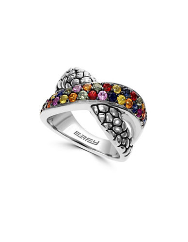 Effy 925 Sterling Silver Multicolor Sapphire Ring-MULTI-7
