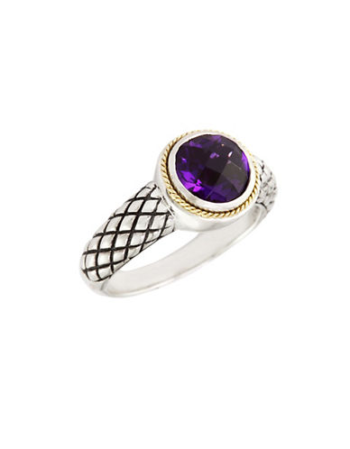 Effy 18K Yellow Gold And Silver Amethyst Ring-PURPLE-One Size
