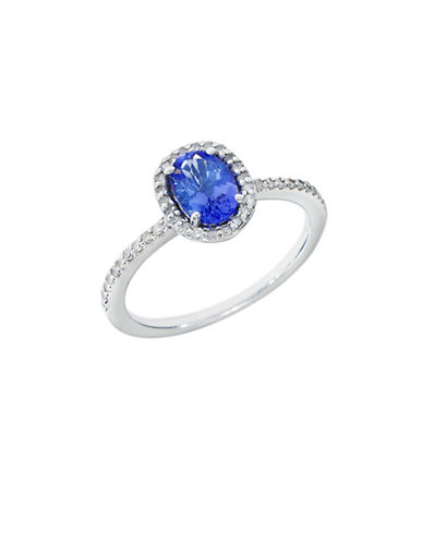 Effy Tanzanite, Diamond and 14K White Gold Ring-BLUE-7