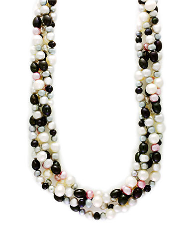 Effy Sterling Silver Multi-Colored Pearl Necklace-MULTI-One Size