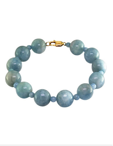 Effy 14K Yellow Gold Aquamarine Bracelet-AQUAMARINE-One Size