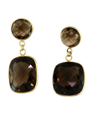 Effy 14K Yellow Gold Smokey Quartz Earrings-SMOKE QUARTZ-One Size