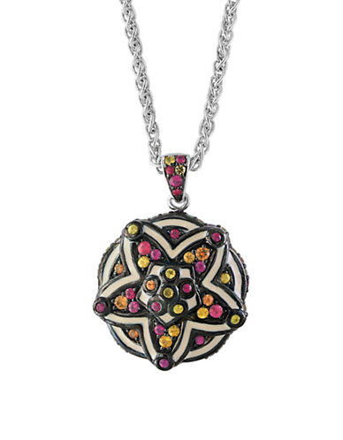 Effy Sterling Silver and Multi Enamel Sterling Silver Necklace-MULTI-One Size