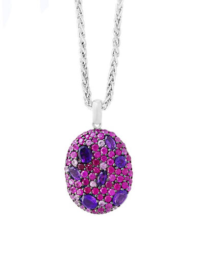 Effy Ruby, Amethyst and Sterling Silver Necklace-RED-One Size