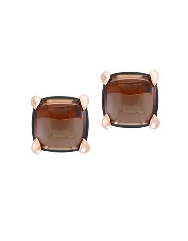 Effy 14K Rose Gold Smoky Quartz Stud Earrings-BROWN-One Size