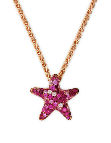Effy Sapphire, Rose Goldplated Sterling Silver Star Pendant Necklace-MULTI-One Size