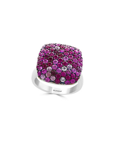 Effy Ruby Studded Sterling Silver Ring-RED-7