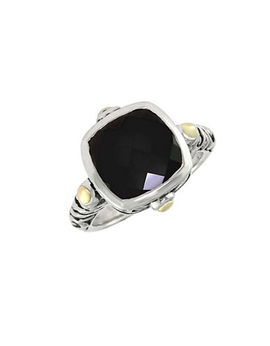 Effy Sterling Silver Diamond Onyx Ring-ONYX-7