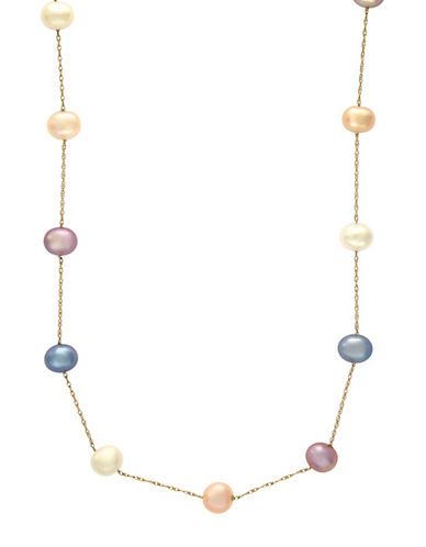 Effy 5.5 MM Cultured Freshwater Pearls and 14 Yellow Gold Beaded Necklace-MULTI-One Size