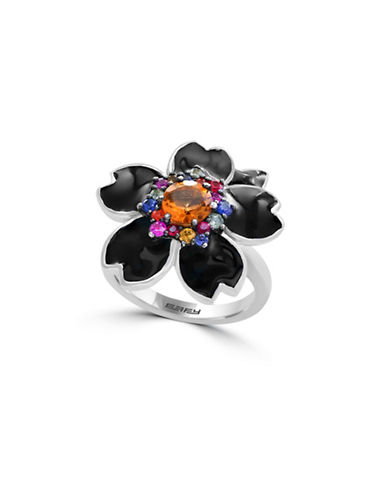 Effy Sterling Silver Floral Ring-MULTI-7
