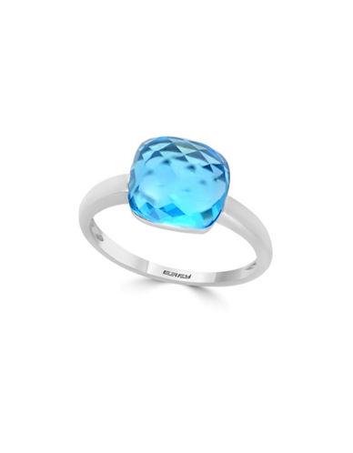 Effy 14K White Gold Blue Topaz Ring-BLUE-7