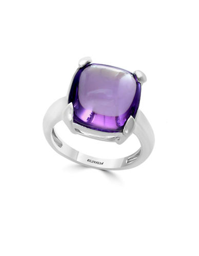 Effy 925 Sterling Silver Amethyst Stone Ring-PURPLE-7