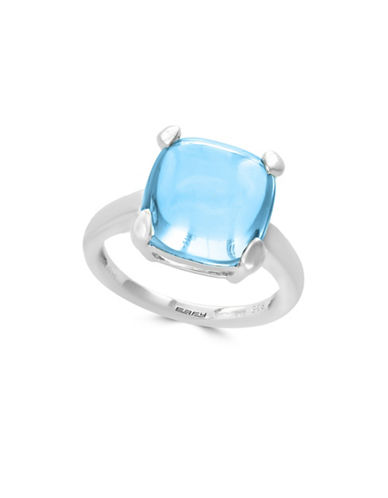 Effy 925 Sterling Silver Square Topaz Ring-BLUE-7