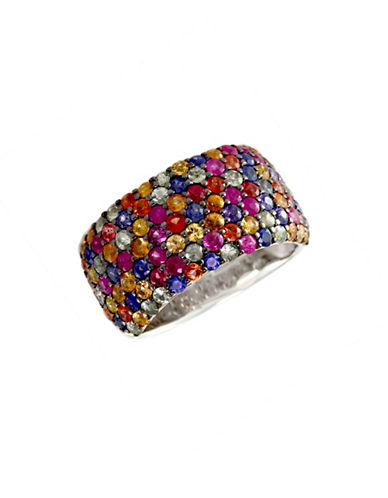 Effy Sterling Silver Multi-Coloured Sapphire Ring-MULTI COLOURED-7