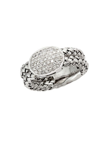 Effy Sterling Silver Diamond Woven Ring-DIAMOND-7