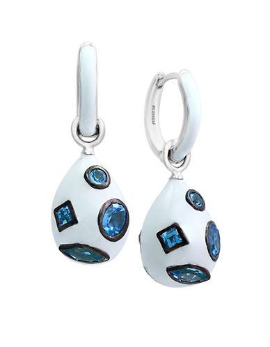 Effy Blue Topaz Sterling Silver Drop Earrings-BLUE-One Size
