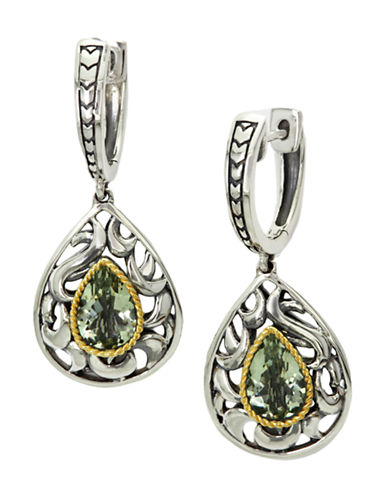 Effy Green Amethyst Earrings in Sterling Silver and 18K Gold-SAPPHIRE-One Size