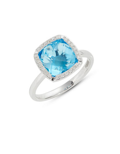 Effy 14k White Gold Blue Topaz and Diamond Ring-WHITE GOLD-7