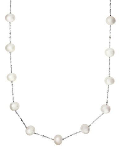 Effy 14K Gold, 14K White Gold and 5.5MM White Cultured Freshwater Pearl Necklace-WHITE-One Size