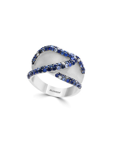Effy Sapphire and Sterling Silver Multi-Row Ring-BLUE-7