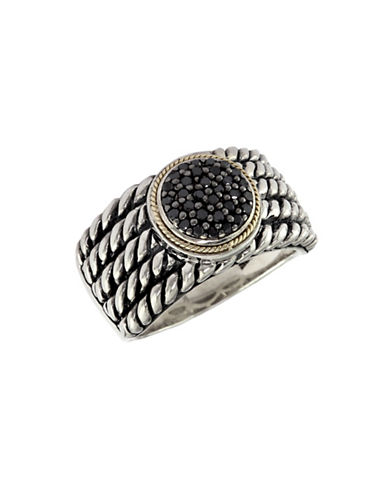 Effy 18K Yellow and Sterling Silver 0.20ct Black Diamond Ring-DIAMOND-7
