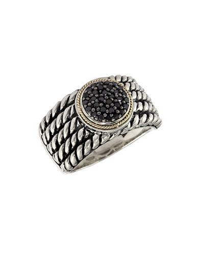Effy 18K Yellow and Sterling Silver 0.20ct Black Diamond Ring-DIAMOND-7