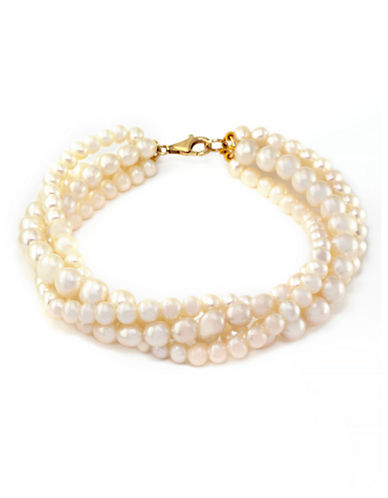 Effy 14K Yellow Gold Freshwater Pearl Tennis Bracelet-PEARL-One Size