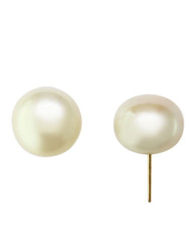 Effy 14K Yellow Gold 12mm Freshwater Pearl Stud Earrings-PEARL-One Size