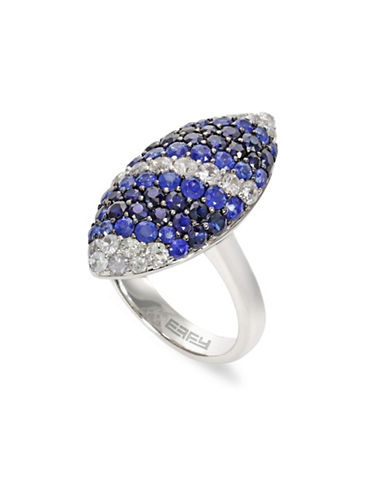 Effy Sapphire, Sterling Silver Marquise Ring-BLUE-7