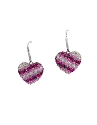 Effy Pink Sapphire, Sterling Silver Earrings-PINK-One Size