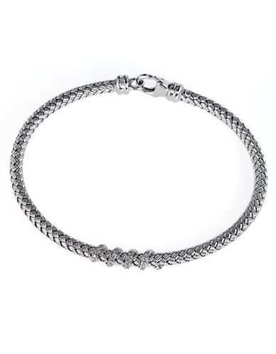 Effy Sterling Silver Diamond Tennis Bracelet-SILVER-One Size
