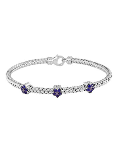 Effy Sterling Silver Sapphire Woven Bangle-SAPPHIRE-One Size