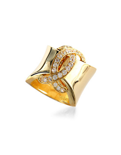 Effy Sapphire, Yellow Goldplated Sterling Silver Ring-YELLOW GOLD-7