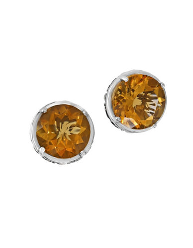 Effy 925 Sterling Silver Citrine Earrings-ORANGE-One Size
