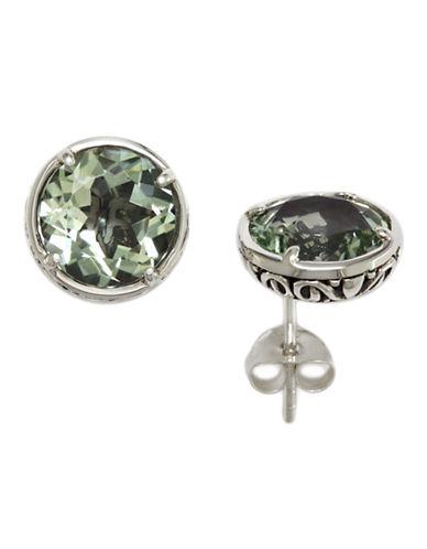 Effy Sterling Silver Green Amethyst Earrings-AMETHYST-One Size