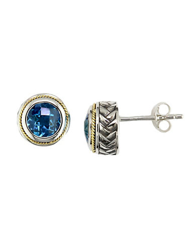 Effy 18K Yellow Gold  Sterling Silver And Blue Topaz Earrings-TOPAZ-One Size