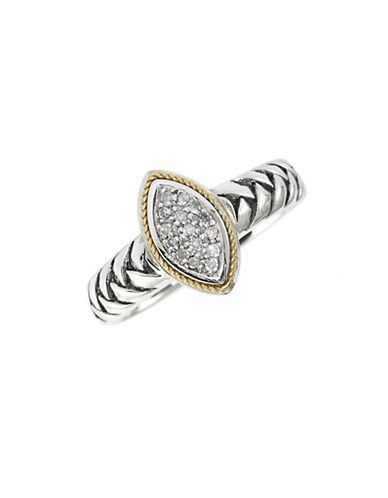 Effy 18K Yellow Gold and Silver 0.07ct Diamond Ring-DIAMOND-7