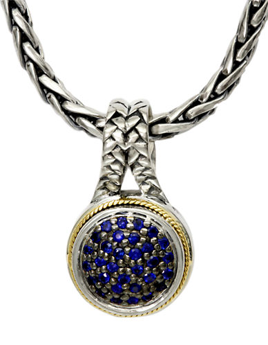 Effy Sterling Silver 18K Yellow Gold And Sapphire Pendant-SAPPHIRE-One Size