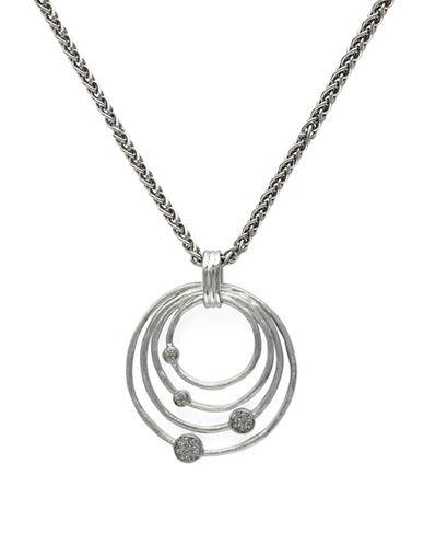Effy Sterling Silver Diamond Pendant-DIAMOND-One Size