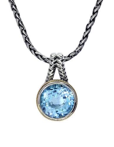 Effy 18KYellow Gold Silver Blue Topaz Pendant-BLUE TOPAZ-One Size