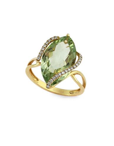 Effy 14K Gold 0.14 TCW Amethyst Ring-GREEN AMETHYST-7