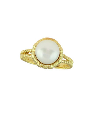 Effy 9MM Freshwater Pearl 14K Gold Ring-WHITE-7