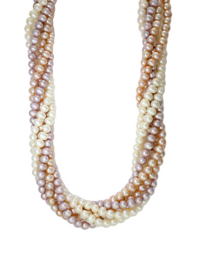 Effy Multi-Colored Freshwater Pearl Necklace in Sterling Silver-MULTI-COLOURED-One Size