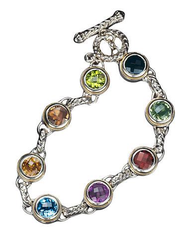 Effy Sterling Silver Gold Multi Semi Precious Bracelet-MULTI SEMI PRECIOUS STONE MIX-One Size
