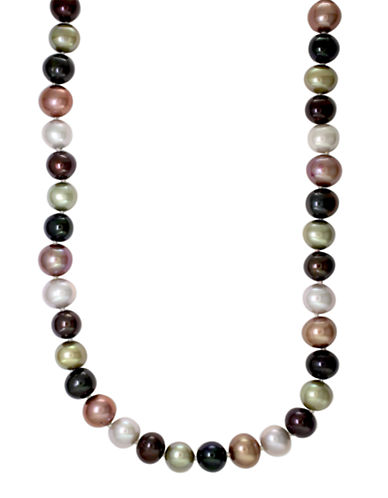 Effy Sterling Silver Multi-Coloured Freshwater Pearl Necklace-MULTI COLOURED-One Size