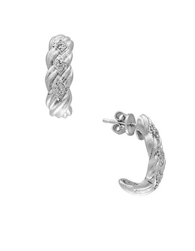 Effy Diamonds and Sterling Silver Earrings-WHITE-One Size
