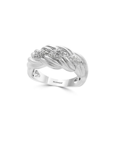 Effy 0.925 Sterling Silver and 0.13 TCW Diamond Ring-DIAMOND-7