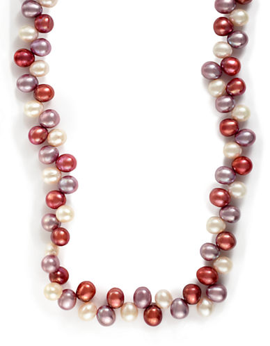 Effy 14K Yellow Gold Multi Coloured Freshwater Pearl Necklace-MULTI COLOURED-One Size